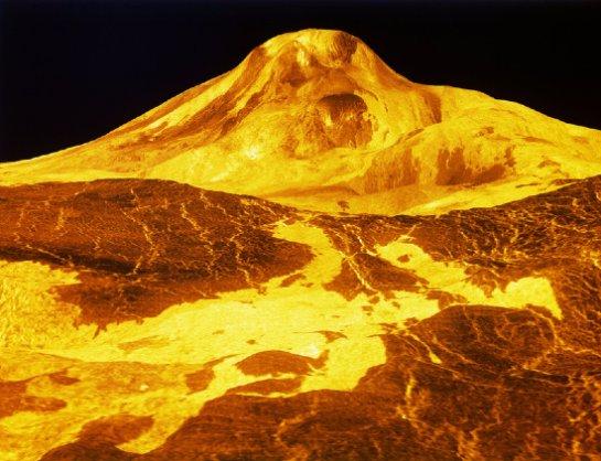 Многие из вулканов на Венере действуют
