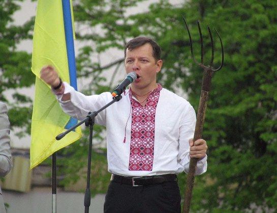 Олег Ляшко пугает Порошенка вилами