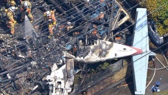 Японский самолет упал из-за плохого самочувствия пилота