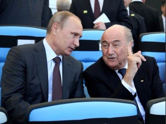 Путин считает, что Йозеф Блаттер заслуживает, чтобы его наградили Нобелевской премией