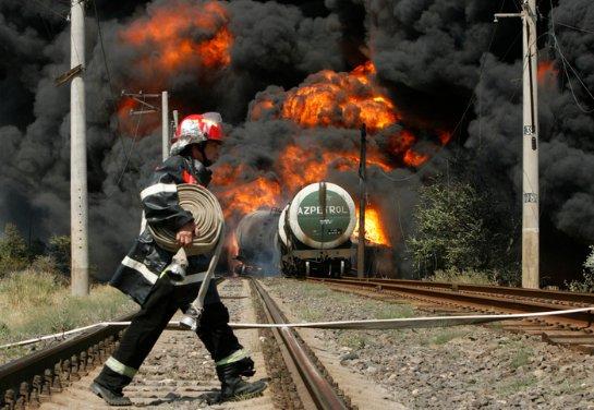 В США произошла авария на железной дороге