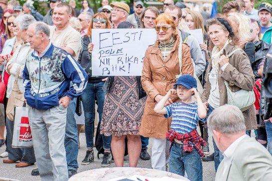 В Эстонии протестуют против беженцев