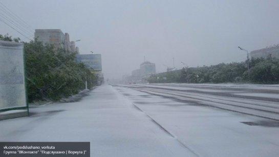 В Воркуте выпал снег и теперь там возобновляют отопительный сезон