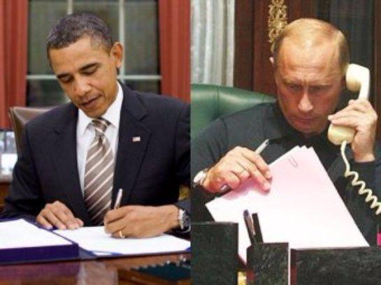 Путин обсудил с Бараком Обамой ситуацию в Сирии