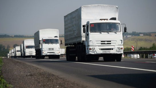 Очередной гуманитарный конвой из России прибыл в восточные области Украины