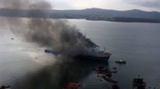 Пожар на рыболовецком траулере в Хабаровском крае удалось локализировать