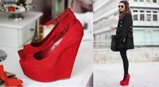 Красная обувь как воплощение гармонии и стиля