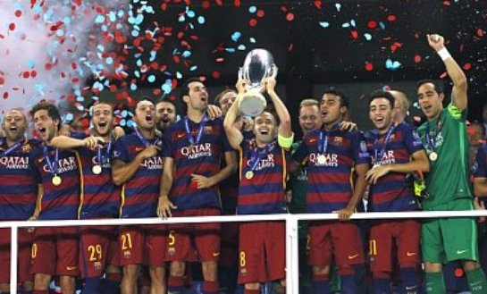 Барселона выигрывает Суперкубок УЕФА