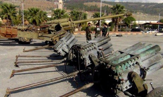 Сирийские террористы получили оружие и боеприпасы от оппозиции