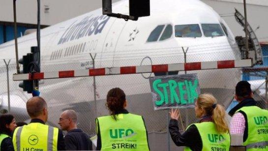 Lufthansa заблокирована из-за забастовок