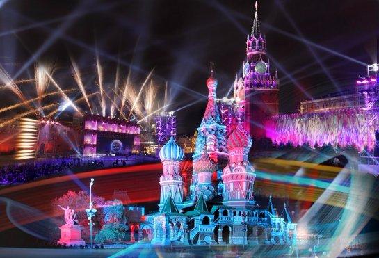 В Москве ожидают грандиозное световое шоу