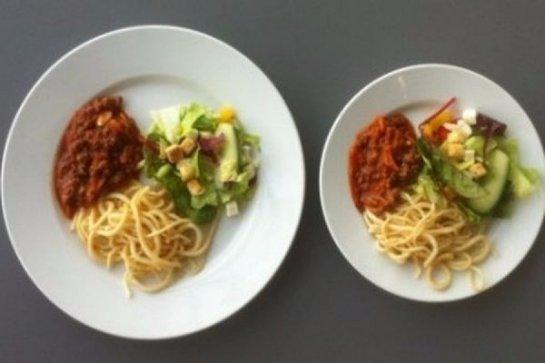 Посуда больших размеров увеличивает влечение человека к пище