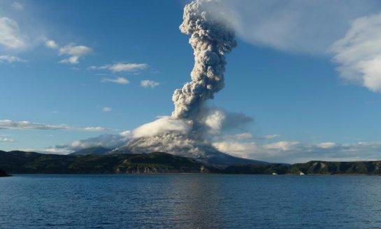 Проснулся японский вулкан Асо