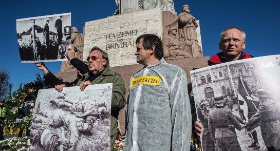 МИД РФ возмущен тем, что в Латвии установили памятник нацистам