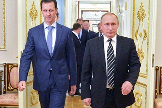 Встреча Владимира Путина и Башара Асада прошла конструктивно