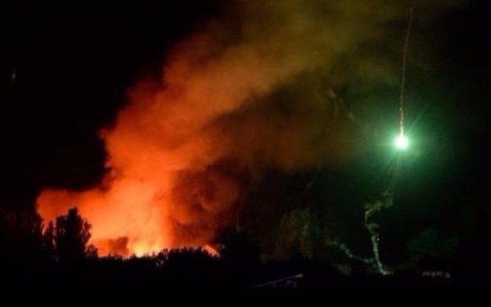В Луганской области пожар на складе боеприпасов