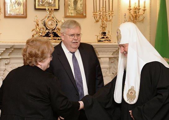 Сегодня прошла встреча Патриарха Кирилла и посла США