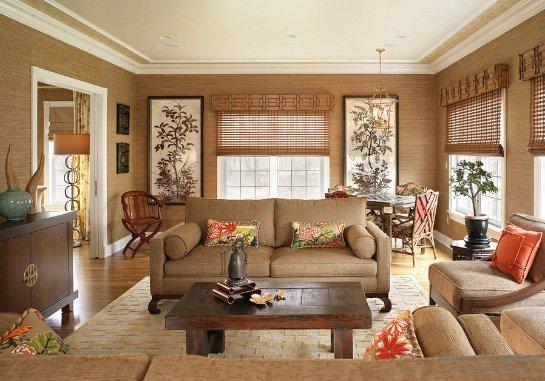 Бамбук в классическом интерьере