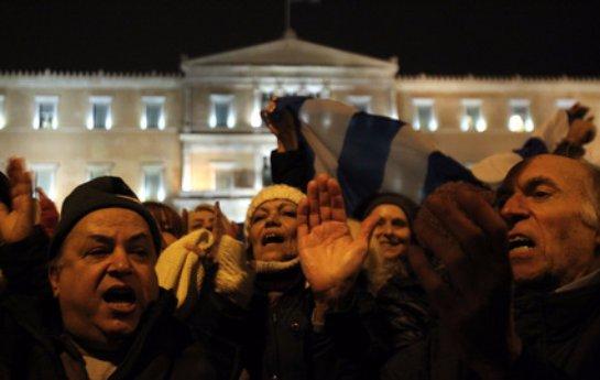 В Афинах массовый протест