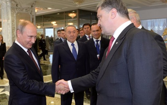 Ну украинском телевидение запретили показывать рукопожатие Порошенка и Путина