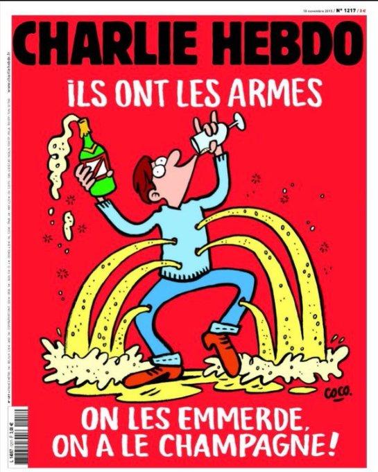 Charlie Hebdo придумали карикатуры и на парижские события 13 ноября