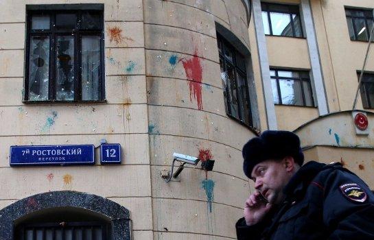 Посольство Турции в Москве было атаковано протестующими
