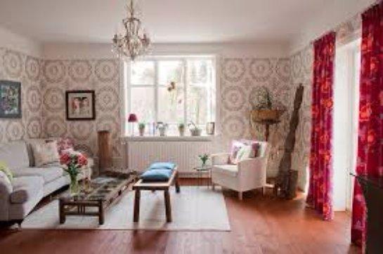 Дизайн обоев для вашей гостиной