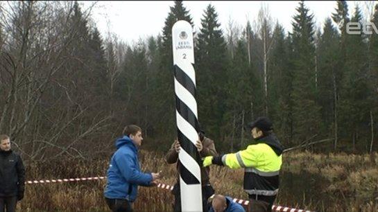 Эстония установила второй столб на границе с Россией, при этом не поставив первого