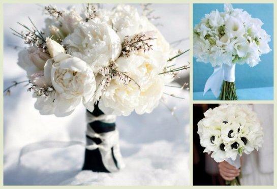 Зимние свадебные цветы