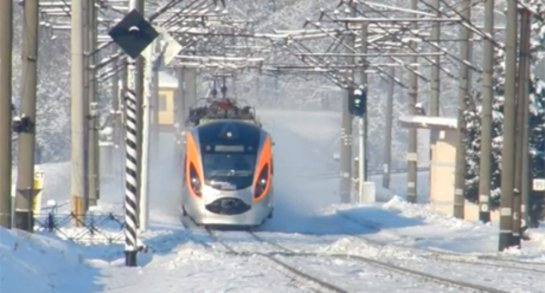 В Украине сломался поезд, не выдержав сильного понижения температуры