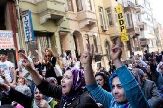 Курды протестуют в Лондоне против политики Кэмерона