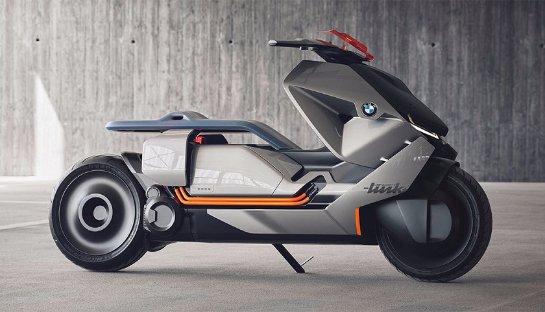 BMW Concept Link: электроскутер будущего с сенсорными кнопками и дисплеем